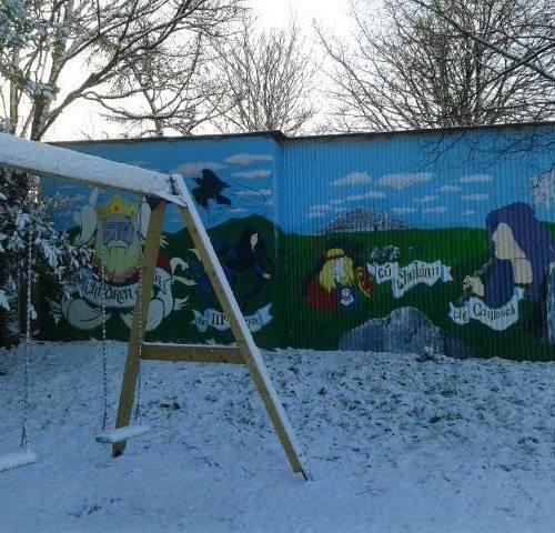 Playground with Snow