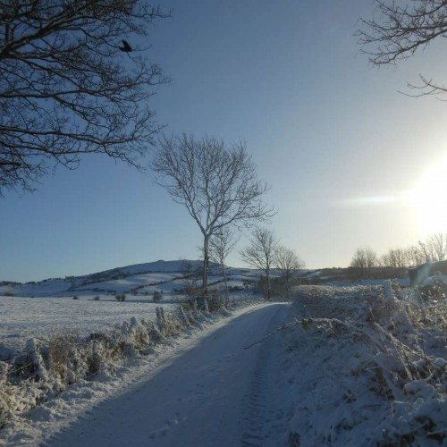 Snow on Loughcrew Hills