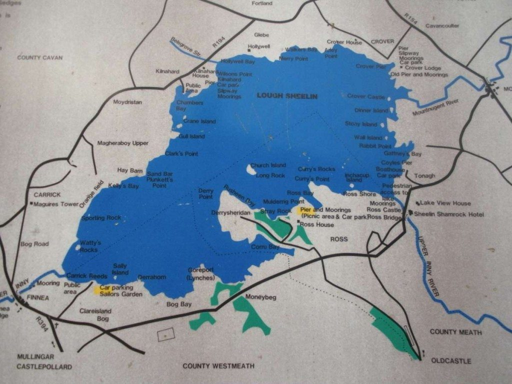Map of Lough Sheelin