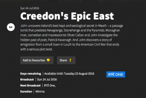 Creedon's Epic East Description