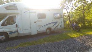 Tranquil site for campervans