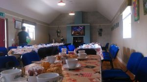 Event Hall Set Up For Tea and Scones at Loughcrew