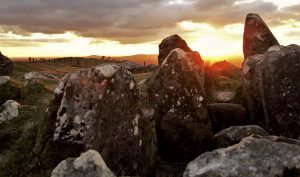 sunset at cairn s loughcrew